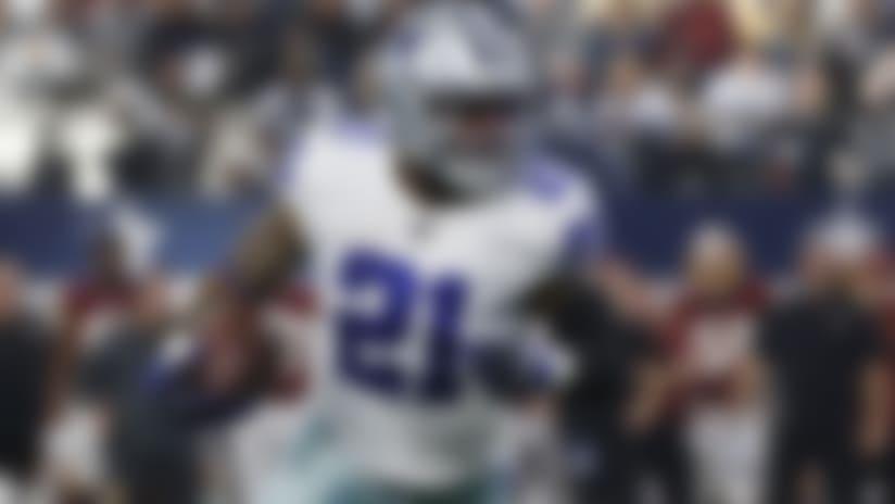 Dallas Cowboys running back Ezekiel Elliott (21) runs against the Washington Redskins during the first half of an NFL football game in Arlington, Texas, Sunday, Dec. 15, 2019. (AP Photo/Ron Jenkins)