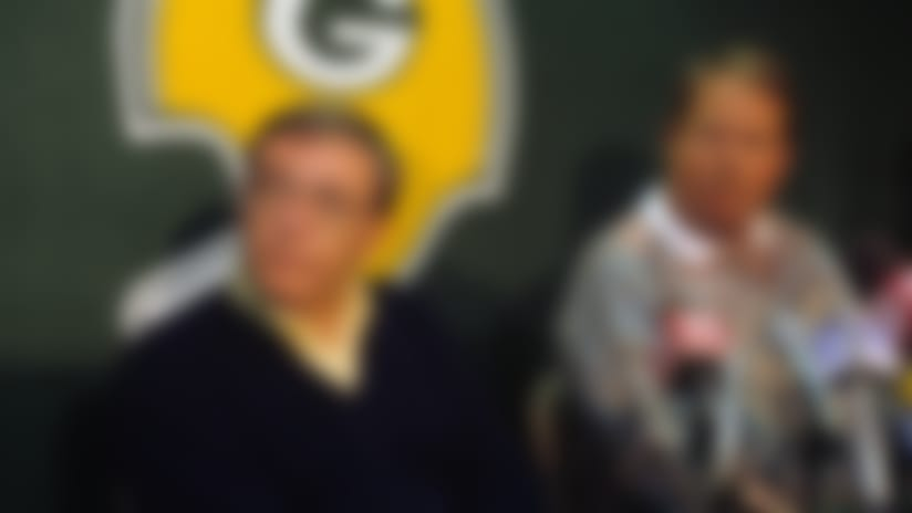 John Schneider cut his teeth in the early 1990s in a Packers organization led by general manager Ron Wolf (left) and coach Mike Holmgren (right).