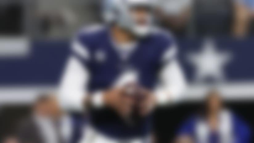 Dallas Cowboys quarterback Dak Prescott (4) prepares to throw a pass during an NFL football game against the Los Angeles Rams, Sunday, Dec. 15, 2019 in Arlington, Texas. (Ric Tapia/NFL)