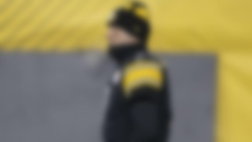 Pittsburgh Steelers quarterback Ben Roethlisberger (7) prior to an NFL football game against the Cleveland Browns, Sunday, Jan. 10, 2021, in Pittsburgh. (Michael Owens via AP)