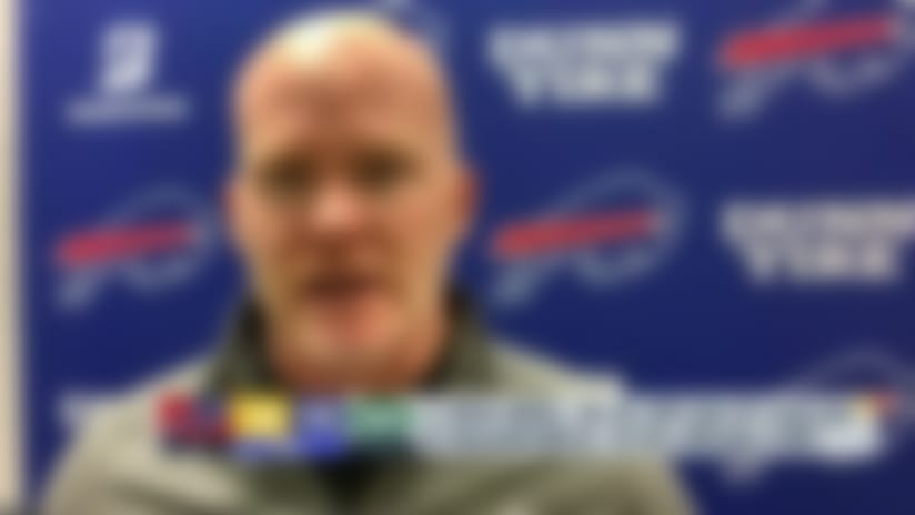 Sean McDermott reacts to the Bills win over the Jets