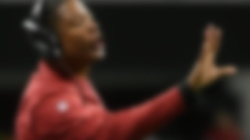FILE - In this Sunday, Dec. 16, 2018, file photo, Arizona Cardinals head coach Steve Wilks gestures during the first half of an NFL football game against the Atlanta Falcons in Atlanta. Mired at the bottom of the NFL standings with two weeks to go in the season, the Cardinals go back to work on the practice field as they prepare to host te Los Angeles Rams on Sunday.  (AP Photo/John Amis, File)