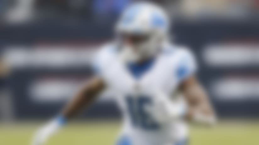 Detroit Lions wide receiver Kenny Golladay plays against the Chicago Bears during the second half of an NFL football game in Chicago, Sunday, Nov. 10, 2019. (AP Photo/Charlie Neibergall)