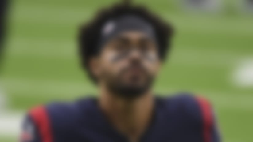 Houston Texans wide receiver Will Fuller V (15) walks off the field following an NFL football game against the Green Bay Packers Sunday, Oct. 25, 2020, in Houston. (AP Photo/Eric Christian Smith)
