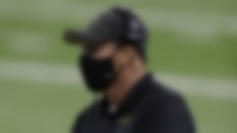 Washington Football Team head coach Ron Rivera looks on from the sideline during the NFL game against the Detroit Lions, Sunday, Nov. 15, 2020, in Detroit. The Lions defeated the Washington Football Team 30-27. (Scott Boehm via AP)