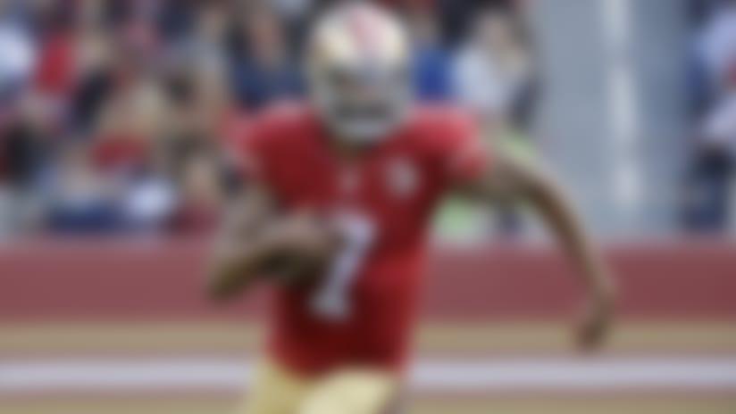 San Francisco 49ers quarterback Colin Kaepernick (7) runs against the Seattle Seahawks during the first half of an NFL football game in Santa Clara, Calif., Sunday, Jan. 1, 2017. (AP Photo/Marcio Jose Sanchez)