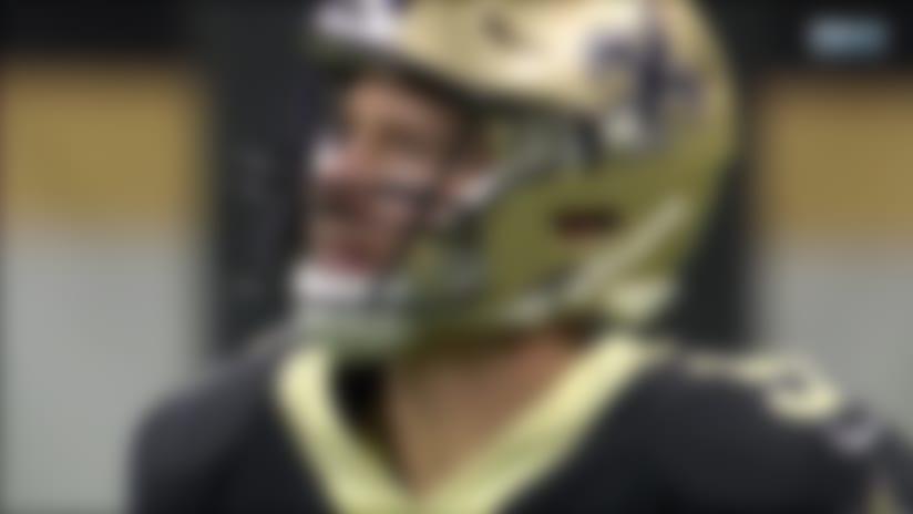 LJarius Sneed intercepts the Drew Brees pass vs. New Orleans Saints