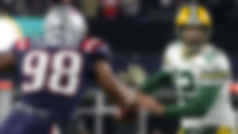 Clayborn, Flowers collapse on Rodgers for key sack
