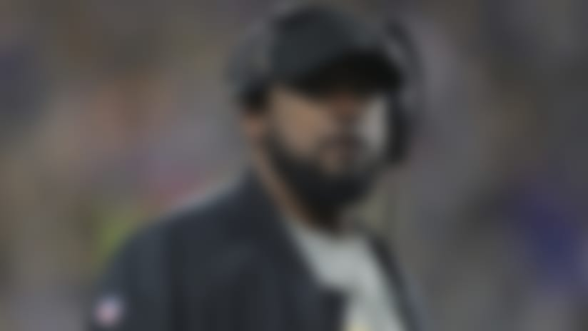 Pittsburgh Steelers head coach Mike Tomlin stands on the sideline during the second half of an NFL football against the Buffalo Bills on Sunday, Dec. 15, 2019, in Pittsburgh. The Bills won 17-10. (Perry Knotts via AP)