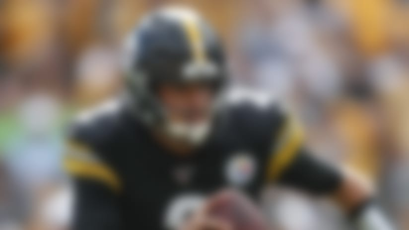 Pittsburgh Steelers quarterback Mason Rudolph (2) scrambles for a first down in the second half of an NFL football game, Sunday, Sept. 15, 2019, in Pittsburgh. (AP Photo/Don Wright)
