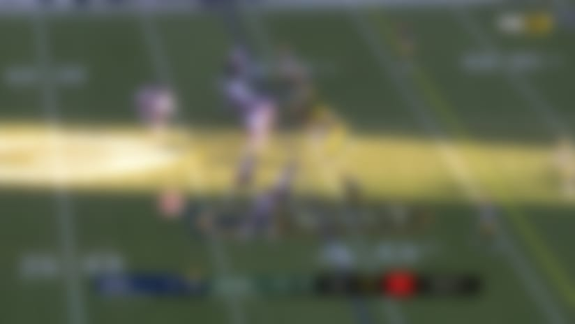 Anthony Miller can't stay in bounds on fourth-down play