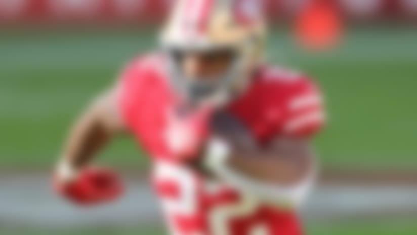 San Francisco 49ers running back Matt Breida (22) carries the ball during an NFL football game against the Atlanta Falcons, Sunday, Dec. 15, 2019 in Santa Clara, Calif. Atlanta won 29-22. (Peter Read Miller via AP)