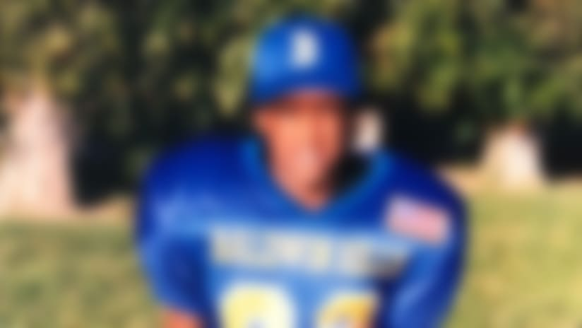 Small for his age, Thomas didn't see the field much in youth leagues and only became a starter his senior year of high school. (Courtesy of Michael Thomas Sr.)