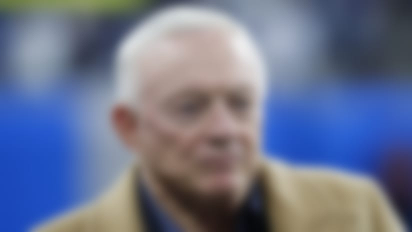 Dallas Cowboys team owner Jerry Jones is seen during pregame of an NFL football game against the Detroit Lions, Sunday, Nov. 17, 2019, in Detroit. (AP Photo/Paul Sancya)