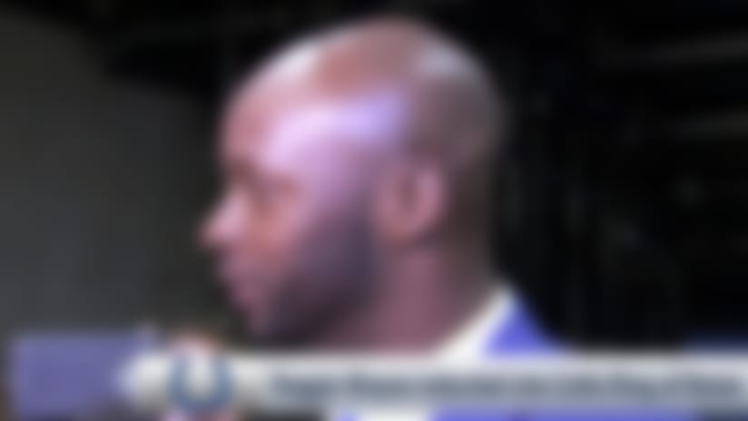 Reggie Wayne thanks Indianapolis Colts fans at Ring of Honor induction