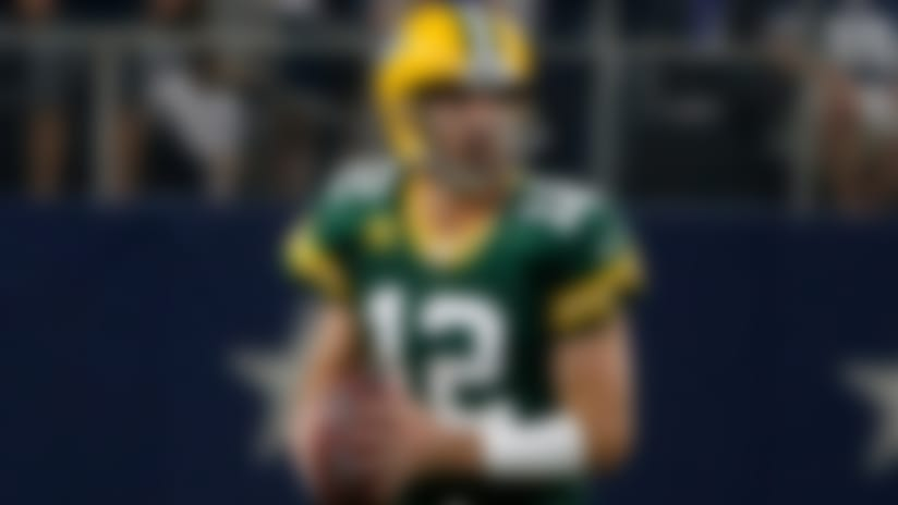 Green Bay Packers quarterback Aaron Rodgers (12) scrambles in the second half of an NFL football game against the Dallas Cowboys in Arlington, Texas, Sunday, Oct. 6, 2019. (AP Photo/Michael Ainsworth)