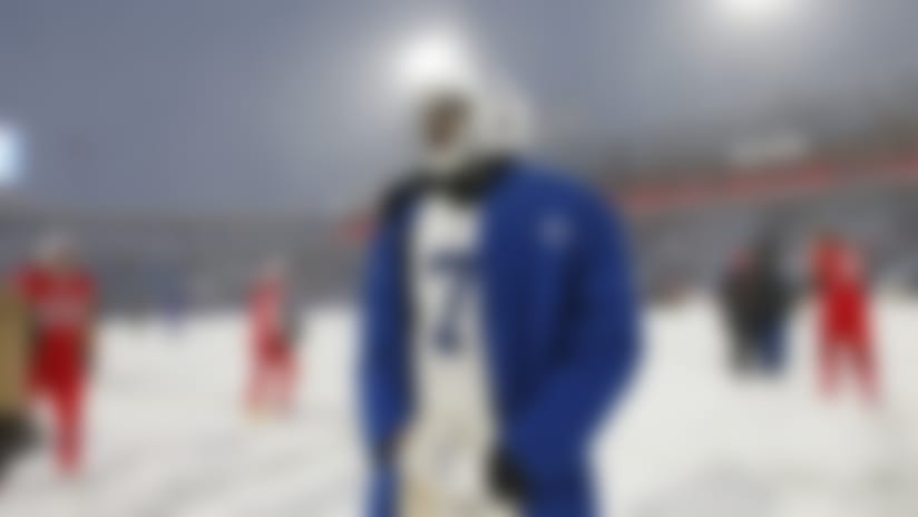 Indianapolis Colts quarterback Jacoby Brissett looks around the field after an NFL football game against the Buffalo Bills, Sunday, Dec. 10, 2017, in Orchard Park, N.Y. The Bills beat the Colts 13-7. (AP Photo/Jeffrey T. Barnes)