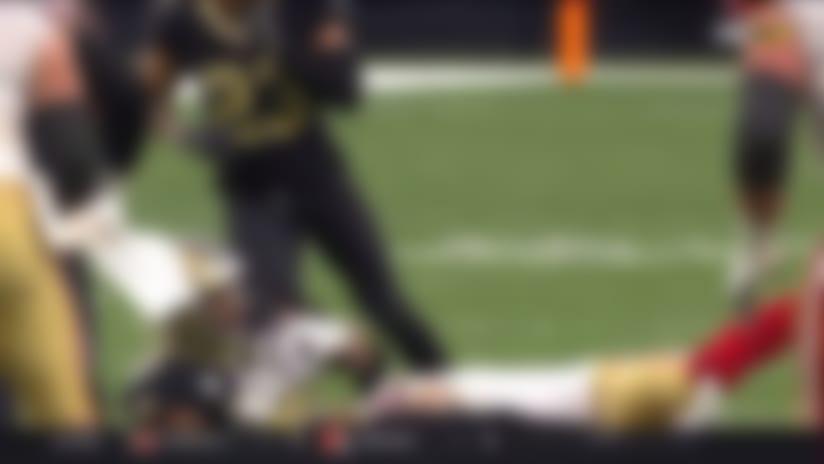 Tip drill! Craig Robertson grabs INT after pass deflects off Emmanuel Sanders