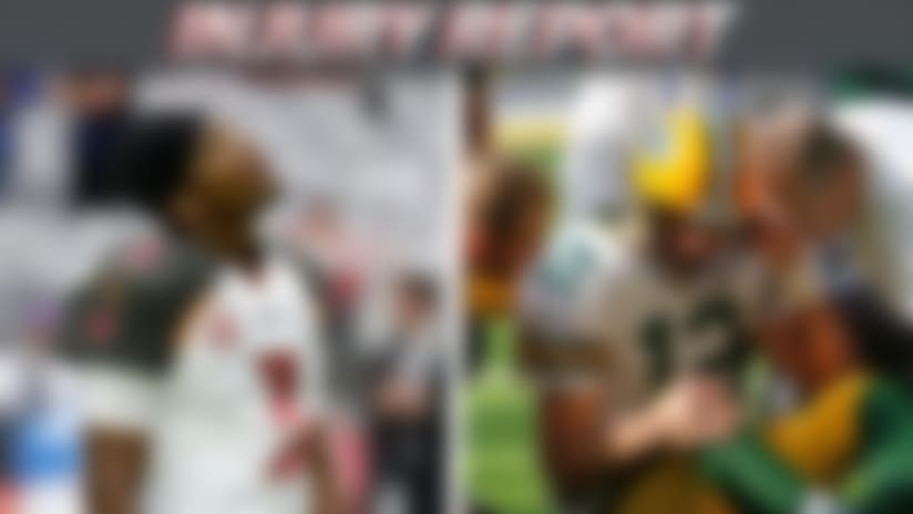 An image for injury report with Jameis Winston and Aaron Rodgers.