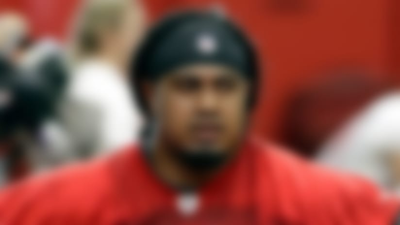 Tampa Bay Buccaneers defensive tackle Vita Vea (50) during an NFL football training camp practice Thursday, July 26, 2018, in Tampa, Fla. (AP Photo/Chris O'Meara)