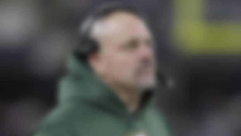 Green Bay Packers defensive coordinator Mike Pettine looks on from the sideline during an NFL football game against the Minnesota Vikings, Monday, Dec. 23, 2019 in Minneapolis. The Packers defeated the Vikings 23-10. (Scott Boehm via AP)