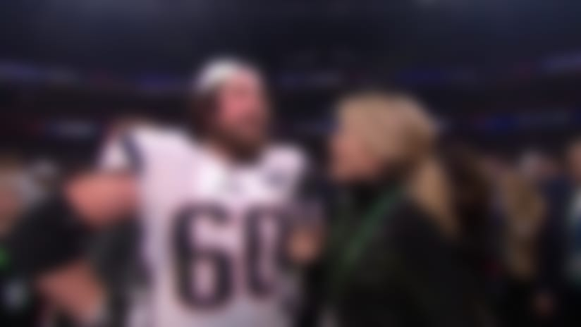 New England Patriots center David Andrews: 'You do it for moments like this'