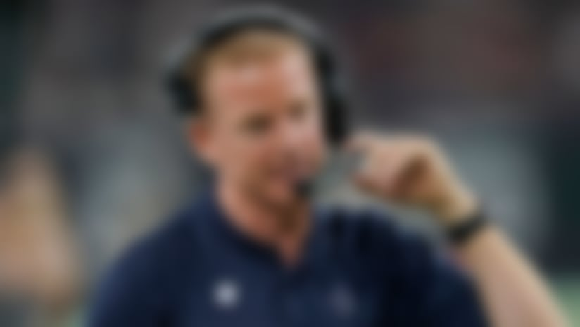 Dallas Cowboys head coach Jason Garrett during the first half of an NFL football game against the Houston Texans, Sunday, Oct. 7, 2018, in Houston. (AP Photo/David J. Phillip)