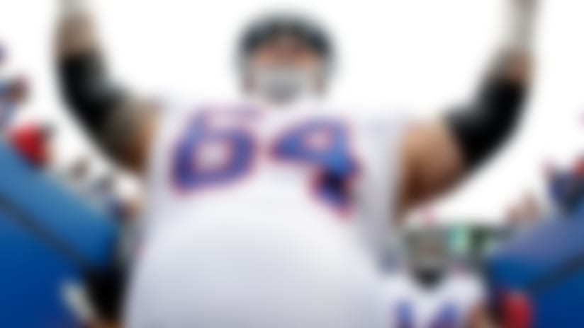 "FILE - In this Oct. 29, 2017, file photo, Buffalo Bills offensive guard Richie Incognito (64) takes the field prior to an NFL football game against the Oakland Raiders, in Orchard Park, N.Y. Bills offensive lineman Richie Incognito texts The Associated Press he's ""done,"" amid reports he is considering retirement after 11 NFL seasons. Incognito followed up the text on Tuesday, April 10, 2018, with a laughing-face emoji and did not respond to further questions seeking clarification. (AP Photo/Julio Cortez, File)"