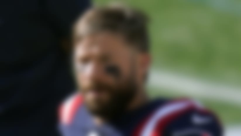 New England Patriots wide receiver Julian Edelman watches from the sideline in the second half of an NFL football game against the Denver Broncos, Sunday, Oct. 18, 2020, in Foxborough, Mass. (AP Photo/Charles Krupa)