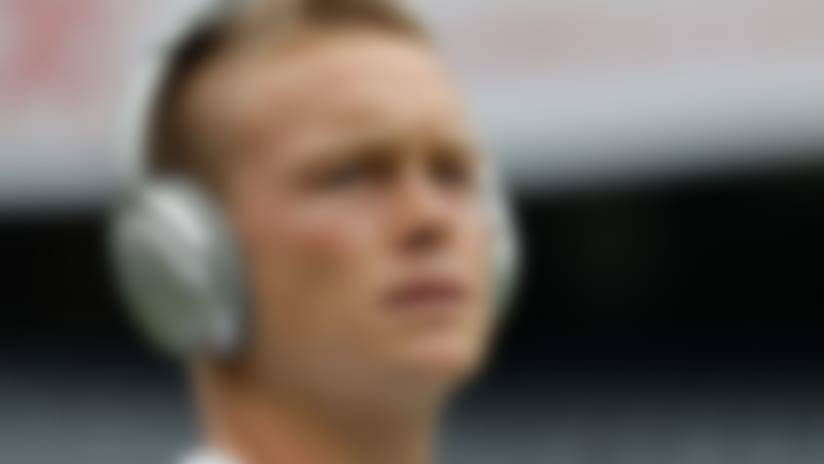 Chicago Bears' Cody Parkey warms up before a preseason NFL football game against the Kansas City Chiefs Saturday, Aug. 25, 2018, in Chicago. (AP Photo/Nam Y. Huh)