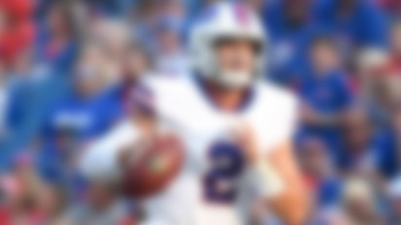 Nathan Peterman throws a dart to Brandon Reilly for 23 yards