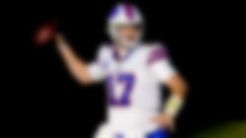 Buffalo Bills quarterback Josh Allen (17) runs against the Denver Broncos during an NFL football game, Saturday, Dec. 19, 2020, in Denver. (AP Photo/Jack Dempsey)