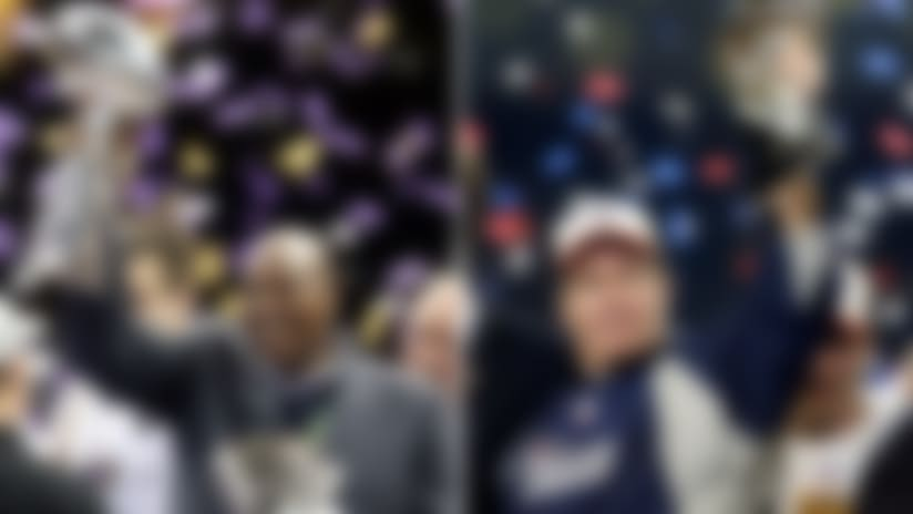 Between the two of them, Ozzie Newsome(left) and Belichick have accounted for six Super Bowl titles since their final season together in Cleveland in 1995.