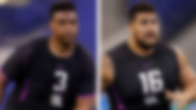 Split image of Orlando Brown and Will Hernandez