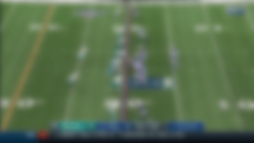 Bobby McCain shows speed on Fins' second INT of Brian Hoyer