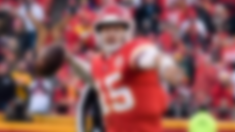 Will Patrick Mahomes try a behind-the-back pass?
