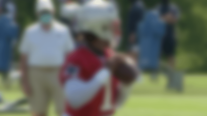 First look: Cam Newton darts passes at Patriots training camp