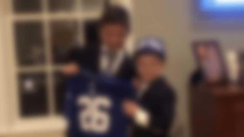Watch young Giants fans' adorable draft re-creation