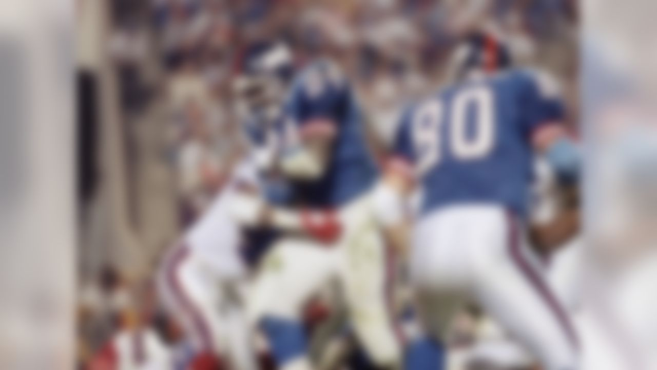 """The MVP of Super Bowl XXV, Anderson's signature moment always will be NFL Films' slow-motion take of his forearm uppercut against Mark Kelso. While Anderson's Giants won that Super Bowl on the strength of his 102 rushing yards and one touchdown, """"O.J."""" likely will lose in the Hall of Fame game ... as in, the voting process. For starters, Anderson has been eligible for 15 years and not received much of a sniff. He rushed for 10,273 yards over an impressive 14-year career, but the bulk of that good work was done for a St. Louis Cardinals team that accomplished little. Hall probability: Slim to none."""