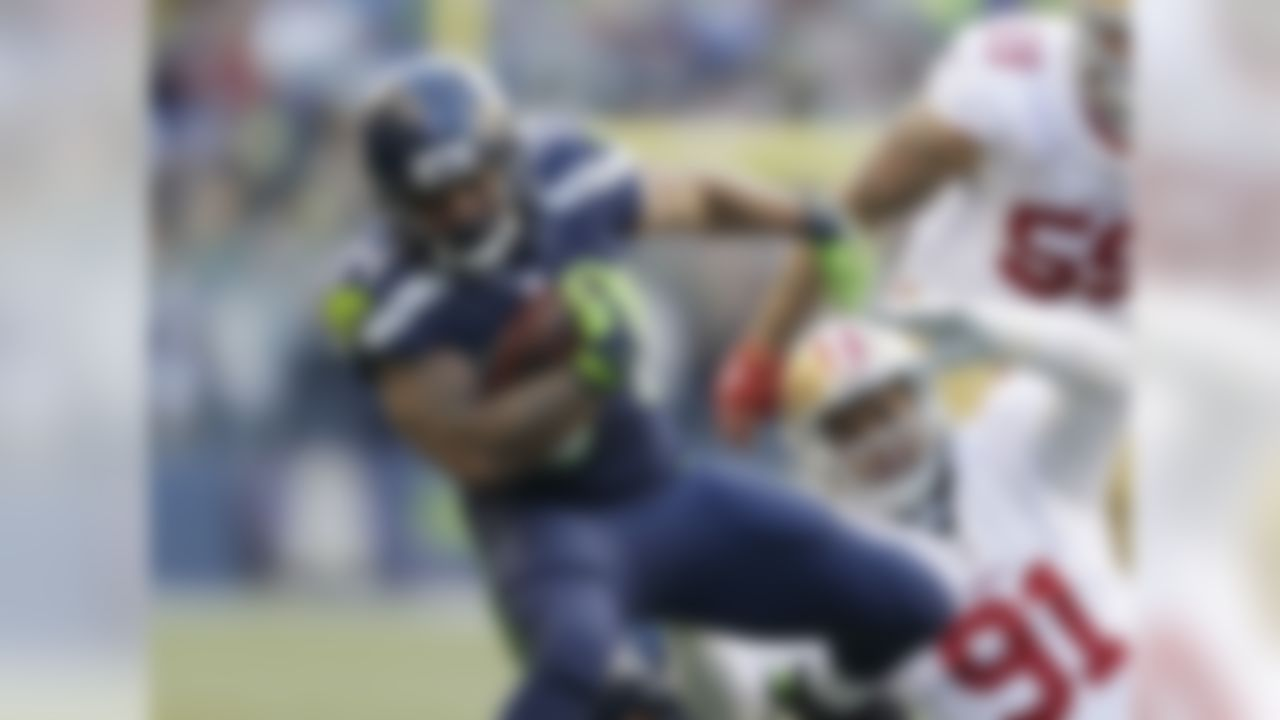 Marshawn Lynch was a somewhat surprising inactive in Sunday's game against the 49ers, leaving the running back duties to Thomas Rawls. And boy did he stake his claim as the future of this backfield, rushing for 209 yards, adding 46 through the air, and scoring two touchdowns -- good for 37.5 fantasy points, the most in Week 11. Lynch's abdomen injury is of a lingering nature (he's seeing a specialist this week) and could either limit him the rest of the way, or cost him the season, making Rawls a must-add this week. As Rich Hribar was the first to note,  Rawls has games of 104, 169 and 209 rushing yards this season, while Lynch has topped 73 rushing yards once in 2015. Even if Lynch gets healthier, this backfield could turn into a RBBC, with Rawls offering weekly flex appeal at worst, RB1-upside at best if Lynch sits. You should go all in on Rawls this week. FAAB Suggestion: 90-100 percent.