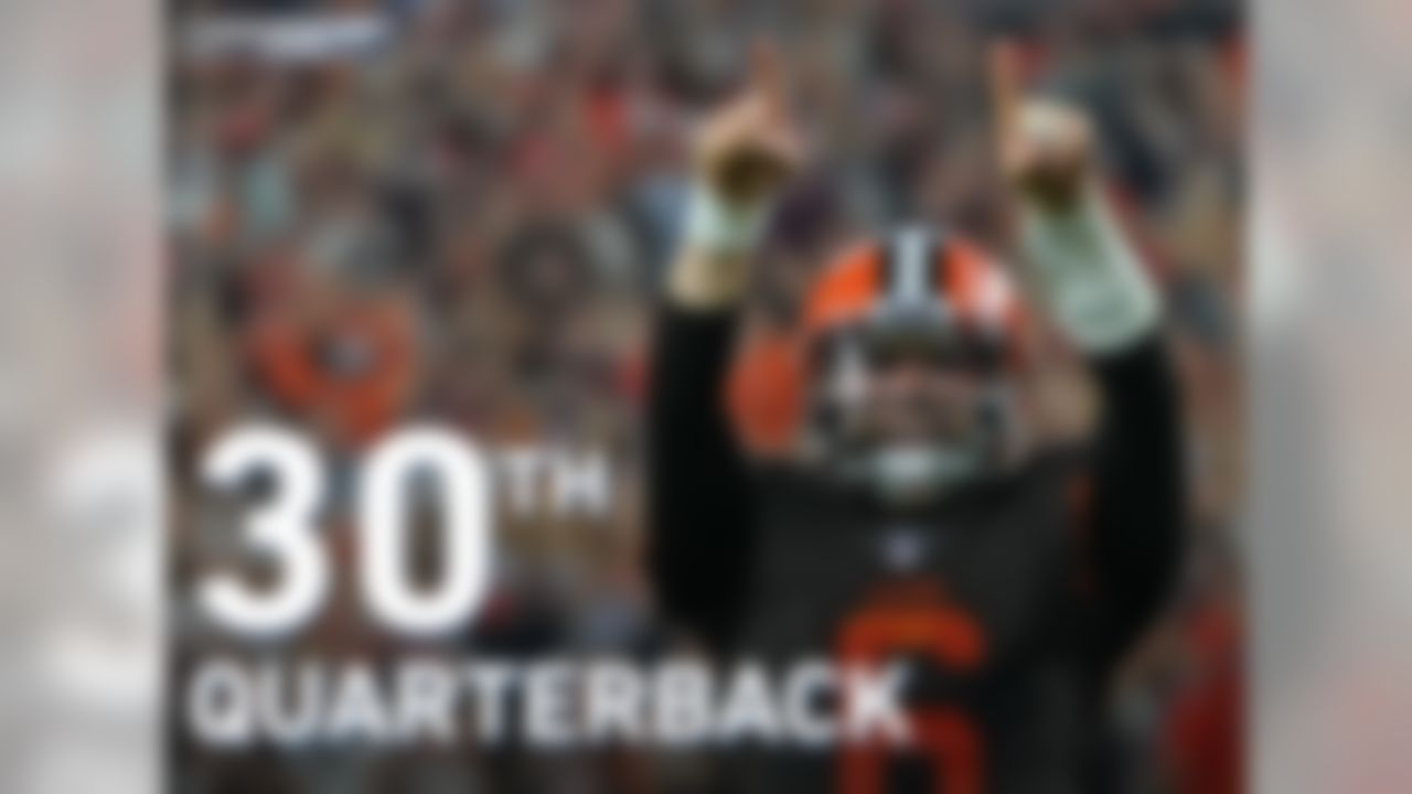 The #1 overall pick in the 2018 NFL Draft, Baker Mayfield, will make his first start this week. Mayfield will be the 30th Browns quarterback to start a game since 1999. The previous 29 went a combined 2-26-1 in their first start with Cleveland.