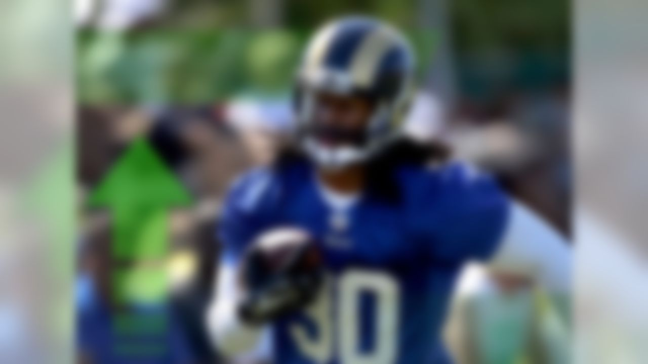 Most observers expected that the Rams wouldn't have the services of the 10th overall pick throughout training camp as he recovered from an ACL injury. So imagine the surprise when the team announced that Gurley would avoid the Physically Unable to Perform (PUP) list to begin camp. Keep in mind that St. Louis Is likely to bring the rookie along slowly, giving Tre Mason the bulk of the work at the start of the season. But signs currently point to the former Georgia Bulldog being ready sooner rather than later.