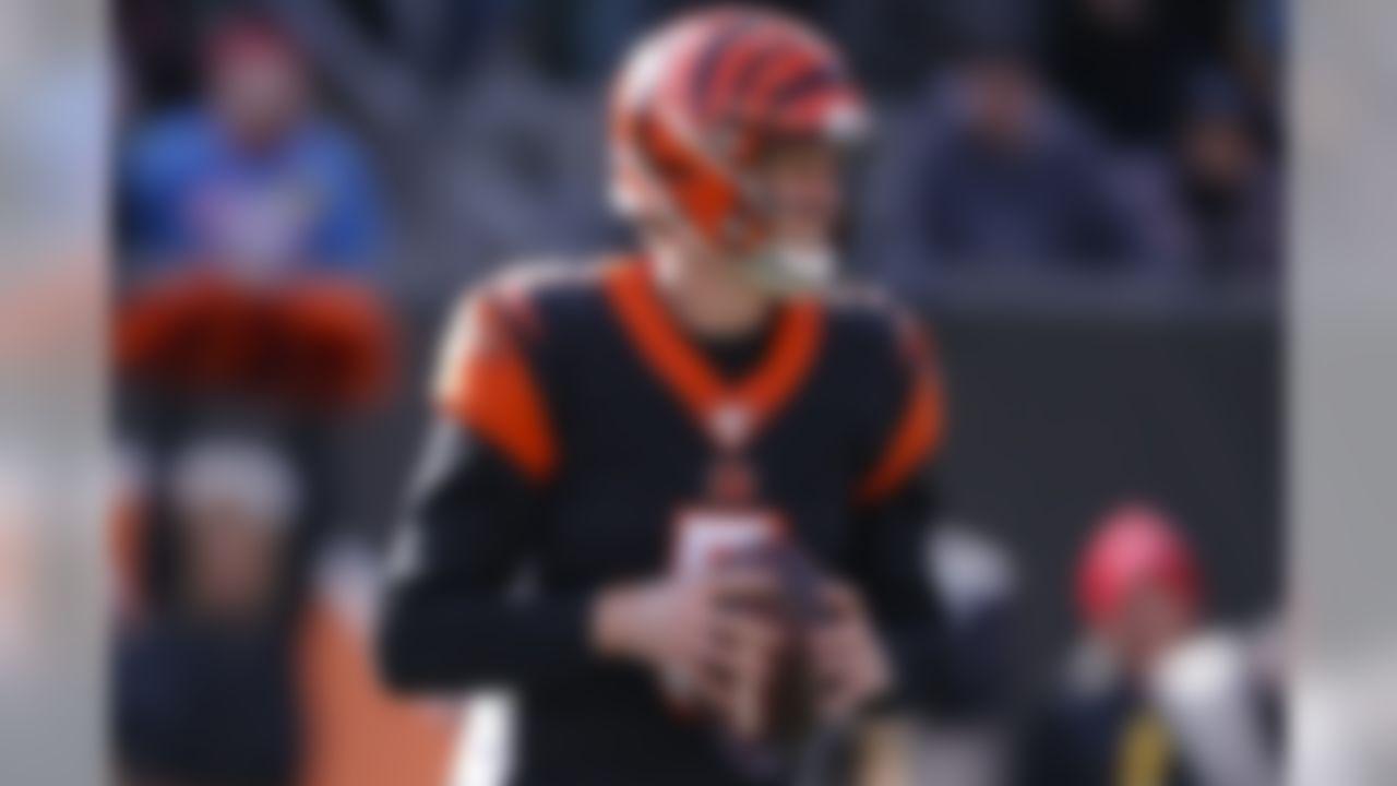 Cincinnati Bengals quarterback Ryan Finley looks to pass during the first half an NFL football game against the Pittsburgh Steelers, Sunday, Nov. 24, 2019, in Cincinnati. (AP Photo/Gary Landers)