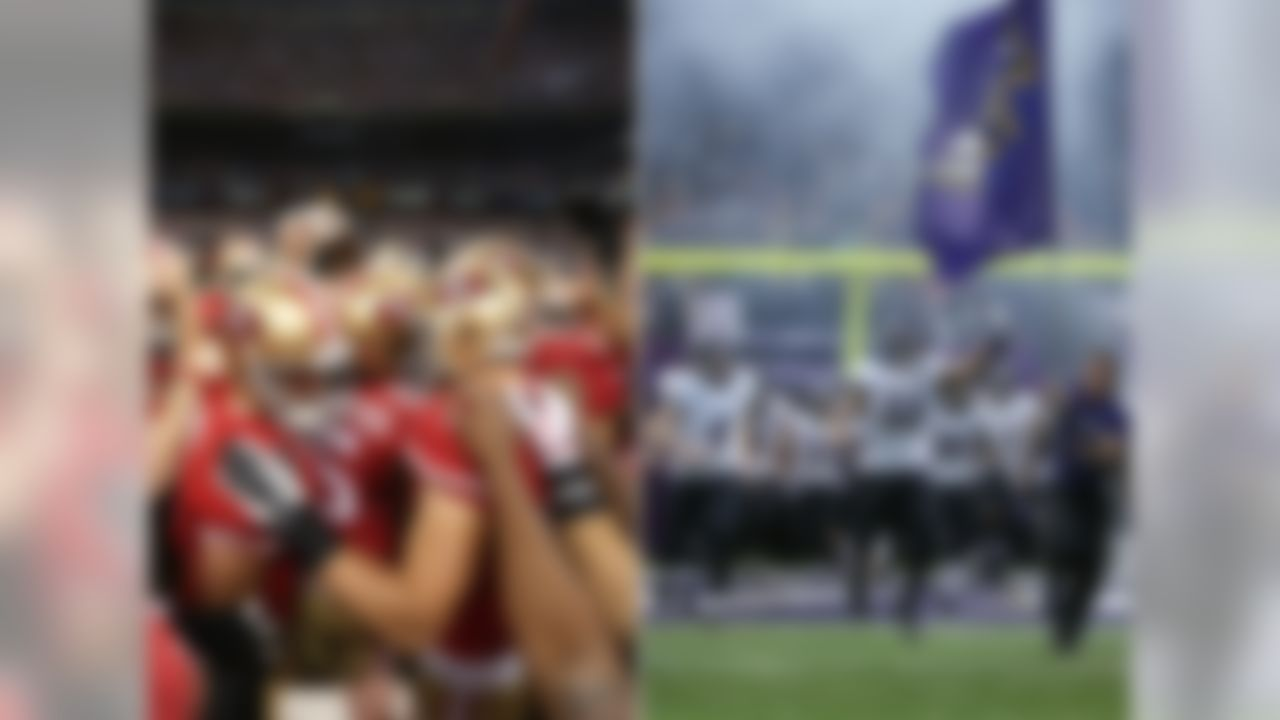 The Baltimore Ravens and San Francisco 49ers ready to square off in Super Bowl XLVII. (Ben Liebenberg/NFL)