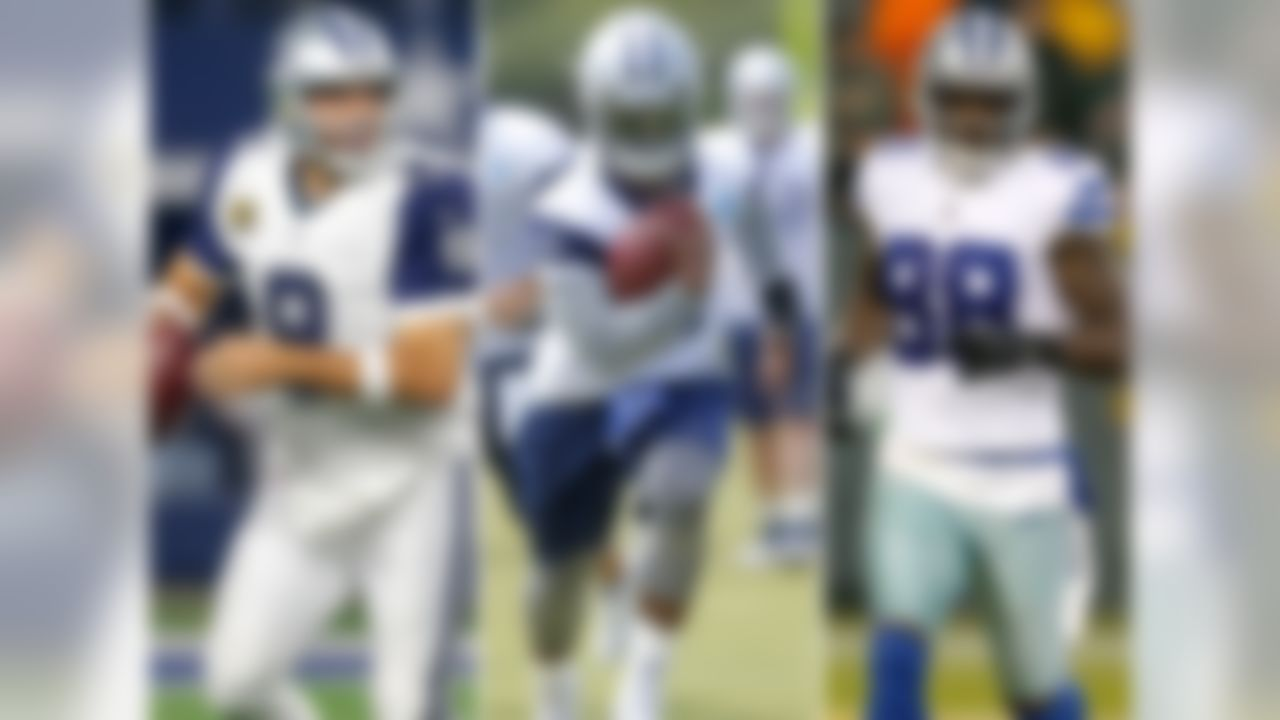 Previous rank: No. 27  At this point, Romo's health is a series-to-series concern (... as are the 80 to 90-some-odd pounds he apparently picked up over the offseason). But when he and Dez are on the field together, there are few schemes known to man capable of stopping them (even when defenses sell out to do so). What, then, will coordinators do now with a bona fide home-run hitter running behind the O-line universally considered the best in football? (Answer: They'll struggle.) I expect Zeke to lead the league in rushing in his rookie season.