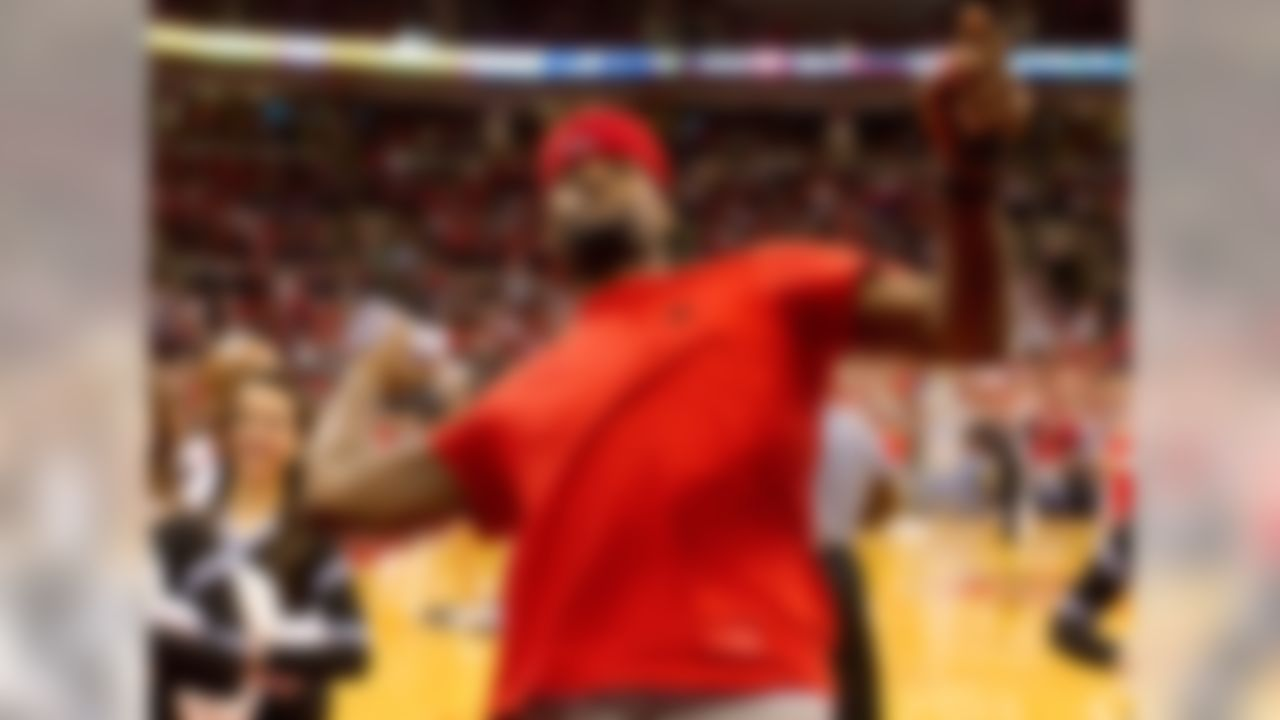 The NBA's biggest star has said more than once that he would have attended Ohio State had he not made the leap from high school directly to the NBA. Urban Meyer has had James speak to the team, and he's shown up on the Buckeyes sideline at times as well. There's no doubting he's a fan, although for a guy who never attended the school, Ohio State tends to go overboard in efforts to associate itself with King James.
