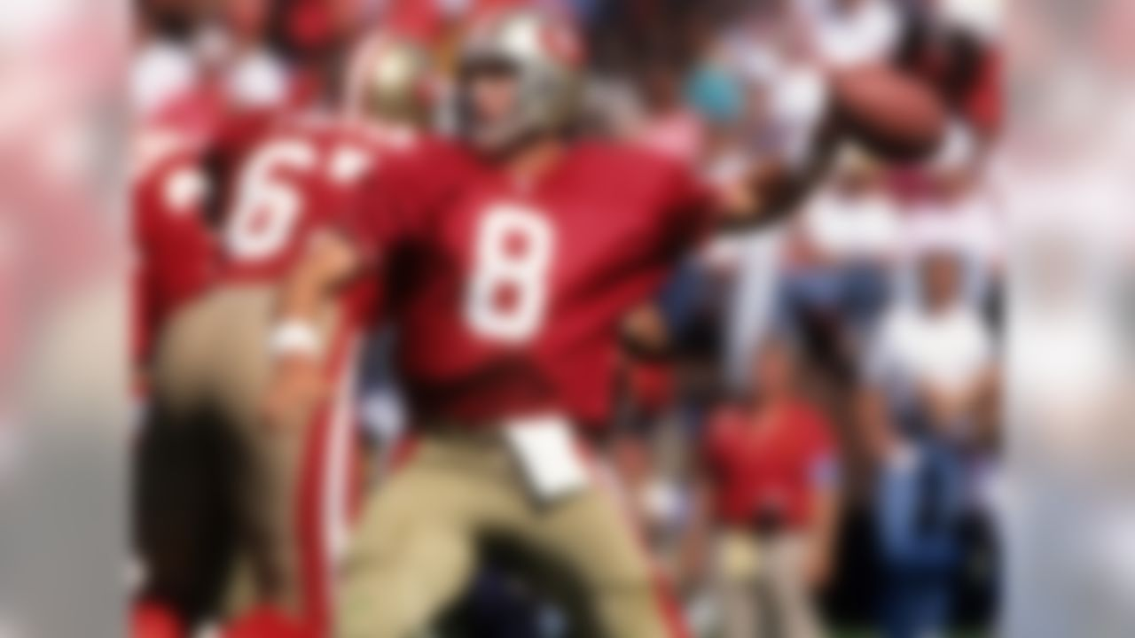 Success in the 49ers organization is measured in Super Bowl titles. Steve Young was able to win passer titles and MVP awards, but the Lombardi Trophy eluded him until he led the 49ers to victory in Super Bowl XXIX.