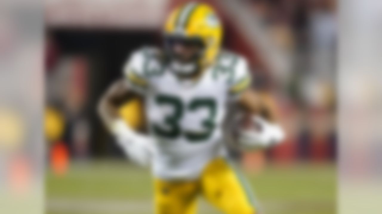 Jones is coming off a monster season that saw him score 19 times and finish second in fantasy points among running backs. So, regression was already a virtual guarantee in 2020. Now, he could wind up losing some touches (not a lot, but some) to rookie A.J. Dillon. With Jamaal Williams also in the mix, Jones has lost some of the luster he gained a season ago. I still like him as a top-15 pick, but his value took a hit.