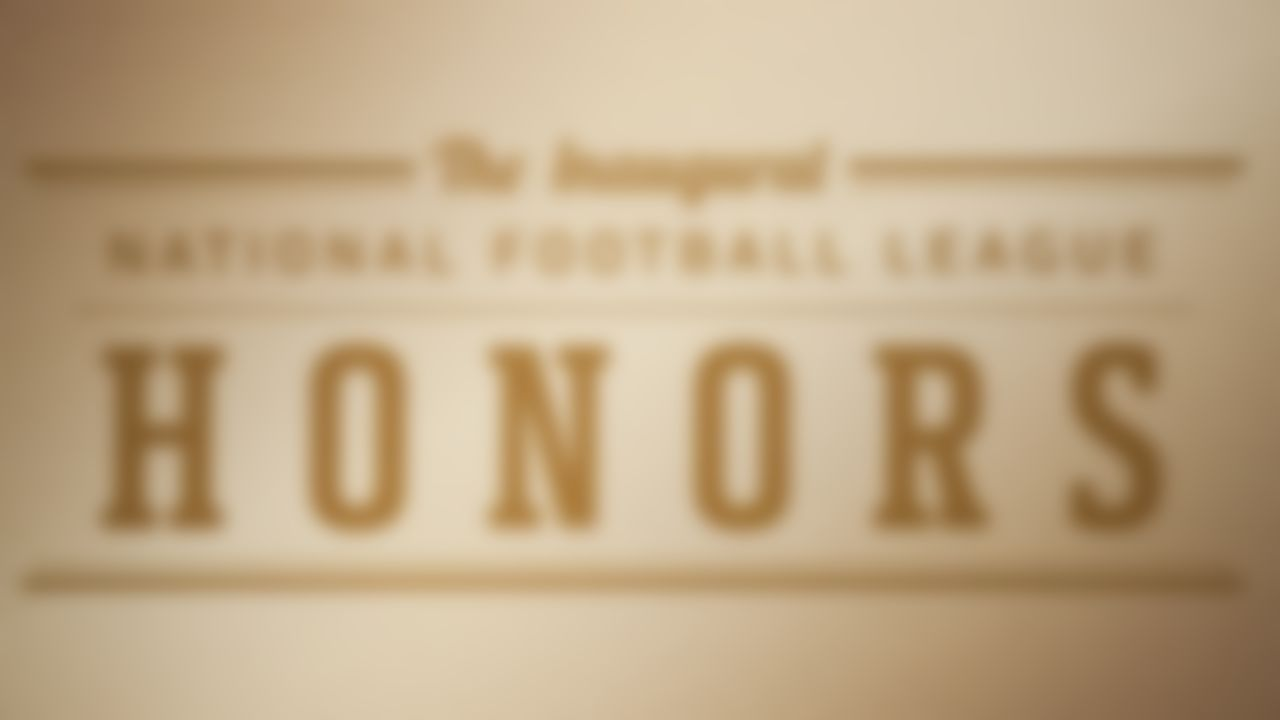 Signage for the inaugural NFL Honors show Saturday, Feb. 4, 2012, in Indianapolis.
