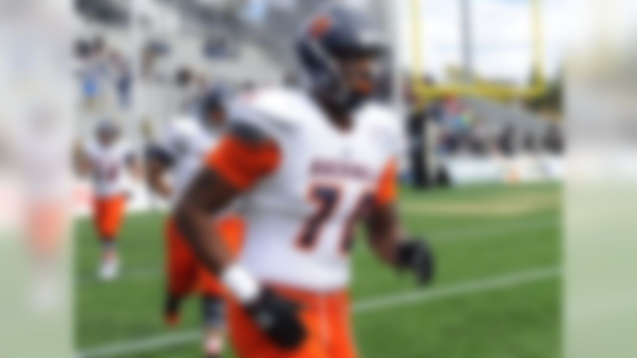 Davenport has started at left tackle since arriving on campus for the Bison, and I won't count him out as a heavy contributor in the NFL. At 6-foot-7 and 315 pounds, he shows the footwork and anchor to be an excellent pass protector. Davenport also sticks on his blocks better than many FBS linemen, something pro coaches will notice and appreciate.